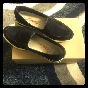 Black suede comfort flex insoles shoes